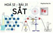 Tính chất hoá học của Sắt Fe, bài tập về Sắt - hoá 12 bài 31